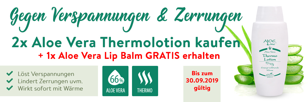 Aloe Vera Thermolotion Angebot